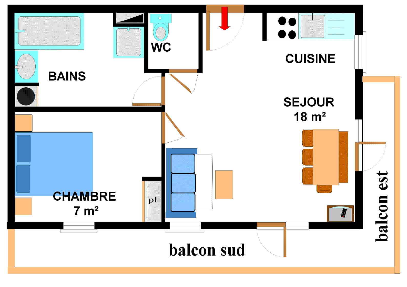 Appartements Les Sports